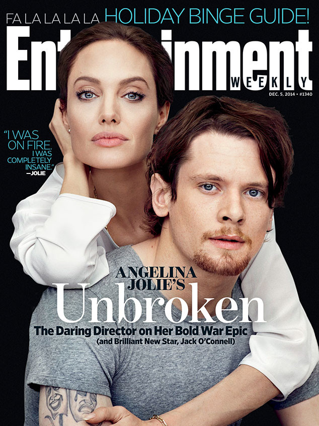 Angelina Jolie, Jack O'Connell, Entertainment Weekly