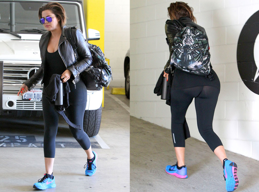 Khloe Kardashian, See Through Workout Pants