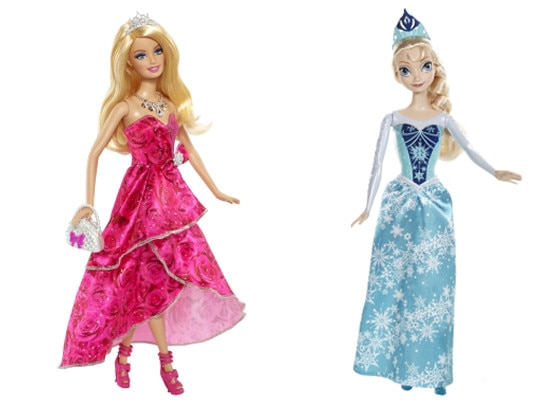 barbie doll frozen