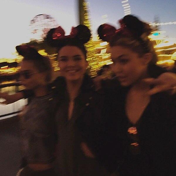 Kendall Jenner, Cara Delevingne, Gigi Hadid, Disneyland