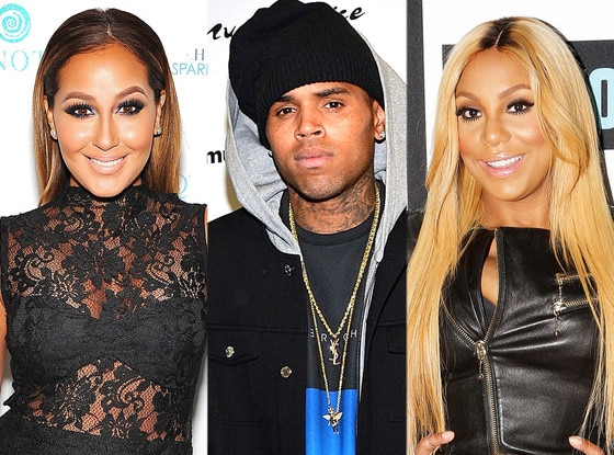 Tamar Braxton, Chris Brown, Adrienne Bailon