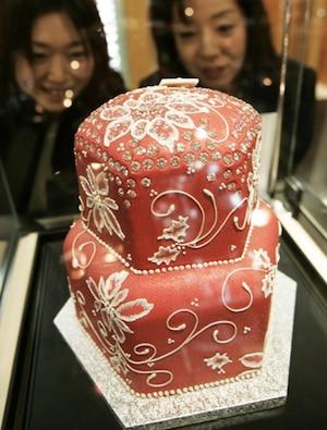 Priciest Desserts Ever, Diamond Christmas Cake