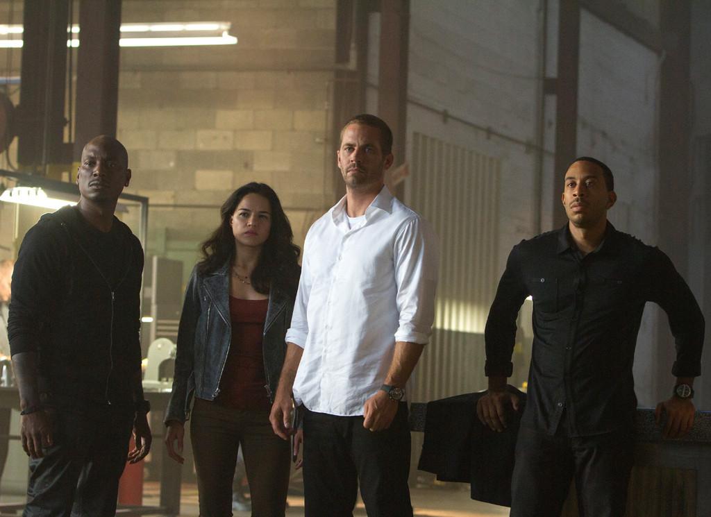 Furious 7, Tyrese Gibson, Michelle Rodriguez, Paul Walker, Chris Ludacris Bridges