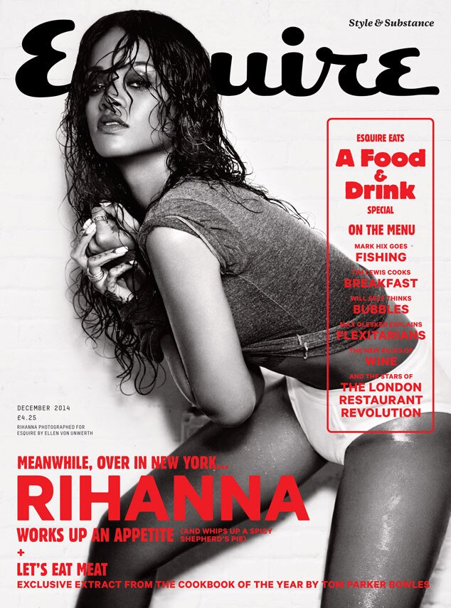Rihanna, Esquire magazine, embargoed till 3pm PST