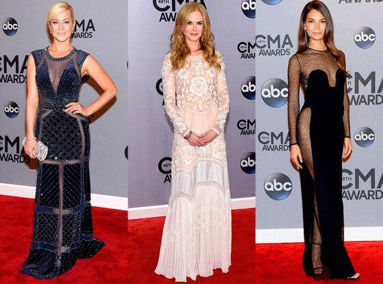 Kellie Pickler, Nicole Kidman, Lily Aldridge, CMA Awards