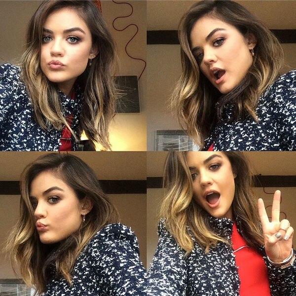 Lucy Hale, hair, selfies