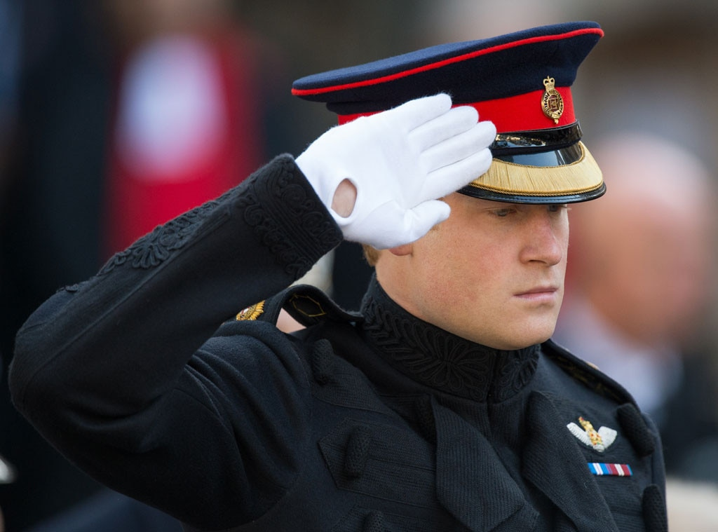 Prince Harry, Fields of Remembrance, Saluting
