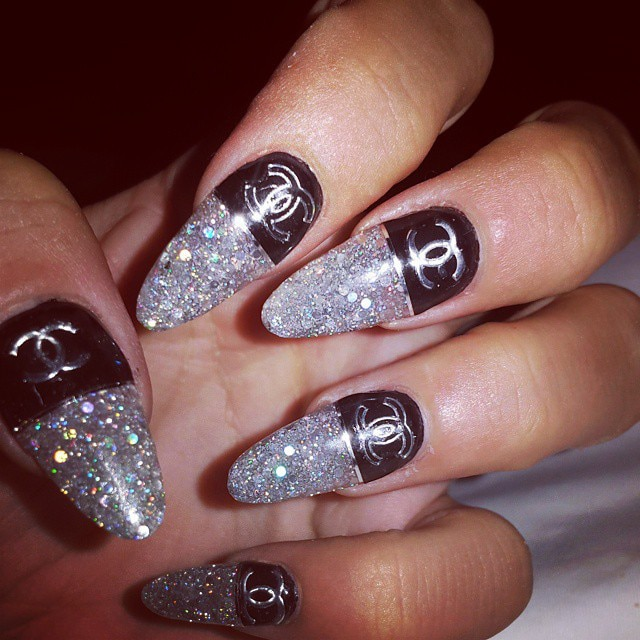 Lily Allen from Crazy Celeb Nail Art
