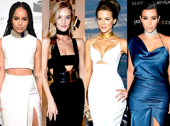 Kim Kardashian West, Rosie Huntington-Whiteley, Kate Beckinsale, Zoe Kravitz, Chokers