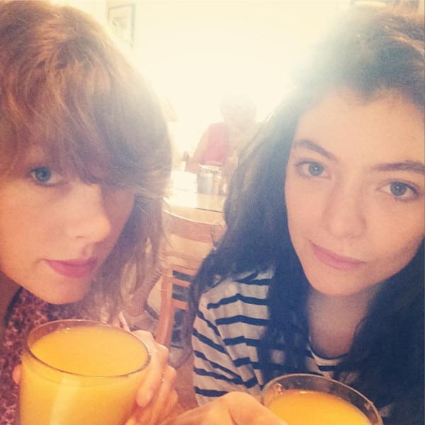 Taylor Swift, Lorde, Instagram