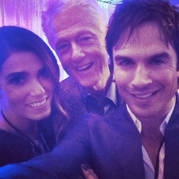 Ian Somerhalder, Nikki Reed, Bill Clinton, Instagram
