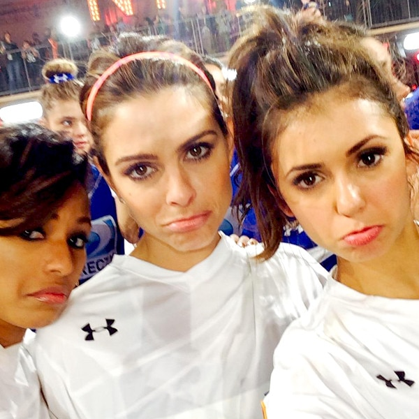 Alicia Quarles, Maria Menounos and Nina Dobrev, Beach Bowl