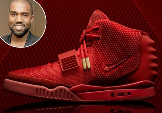 kanye west shoes red