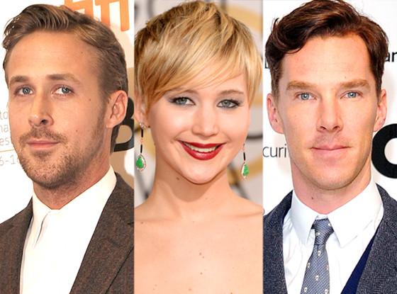 Ryan Gosling, Jennifer Lawrence, Benedict Cumberbatch