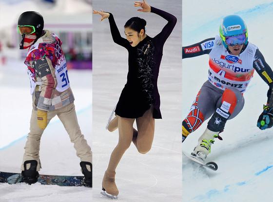 Shaun White, Kim Yu-Na, Ted Ligety, Sochi Winter Olympics
