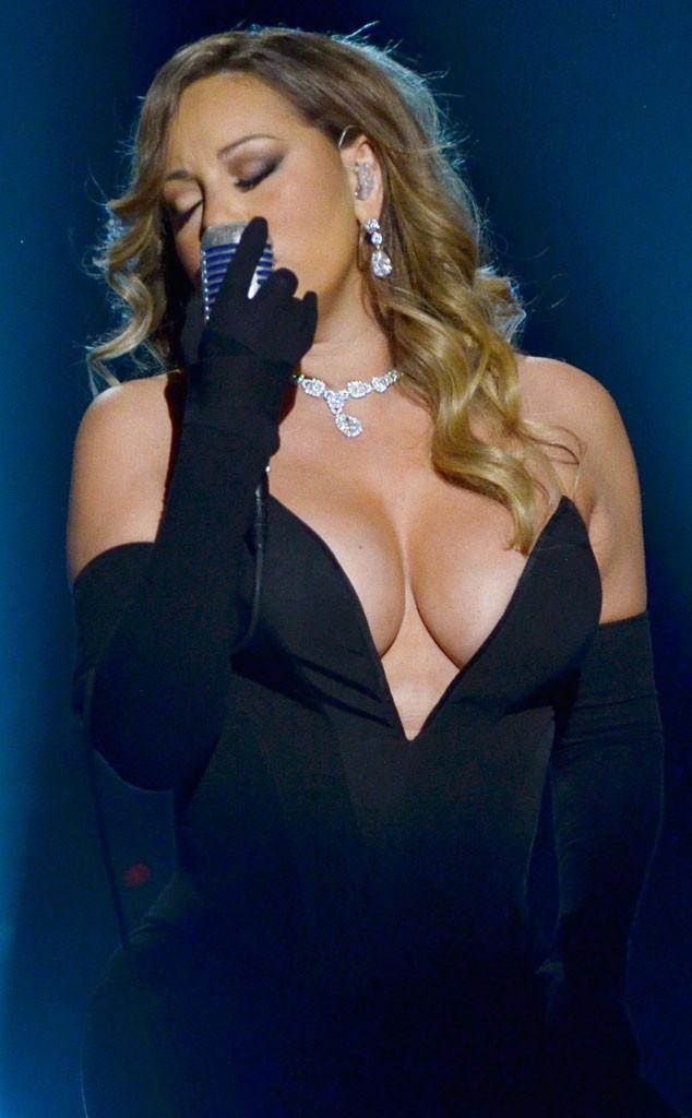 carey out Mariah boob pop