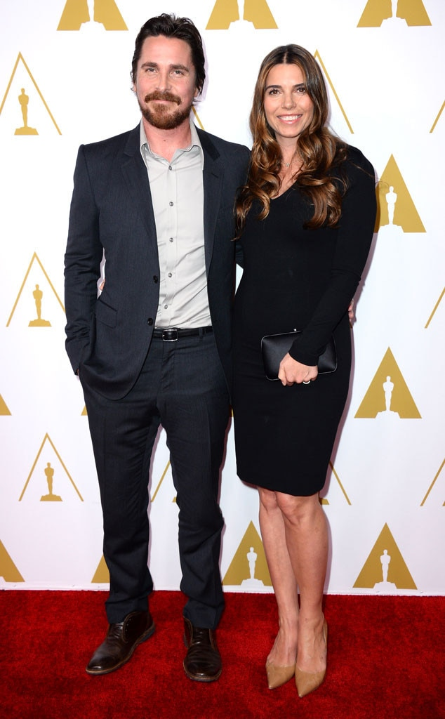 Christian Bale, Sibi Blazic, Oscars Nominees Luncheon