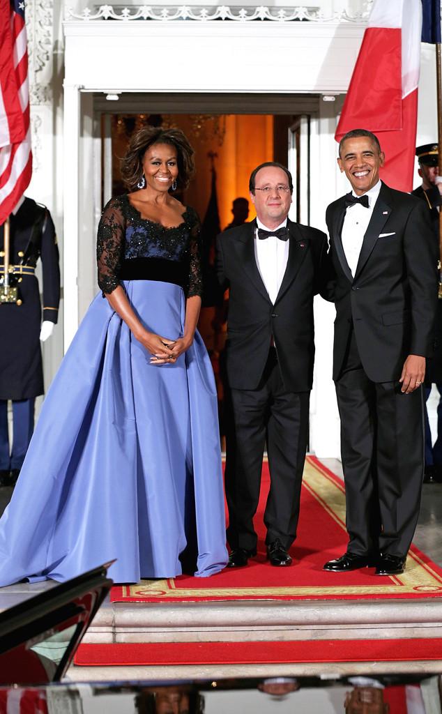 Barack Obama, Michelle Obama, Francois Hollande