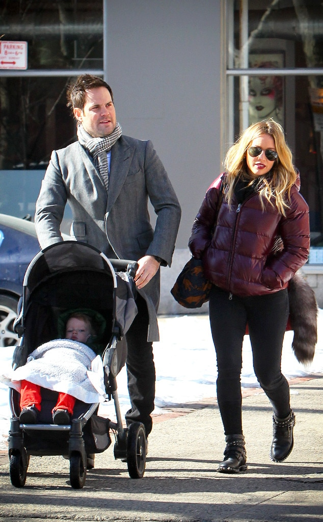 Hilary Duff, Mike Comrie, Luca