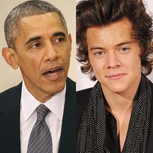 Barack Obama, Harry Styles
