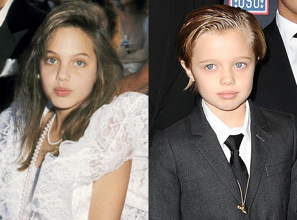 Young Angelina Jolie and Shiloh Jolie-Pitt Are Identical ... Brad Pitt And Angelina Jolie