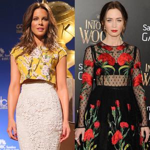 Lea Michele, Kate Beckinsale, Emily Blunt, Winter Florals