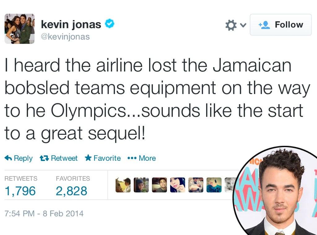 Kevin Jonas, Olympic Tweets
