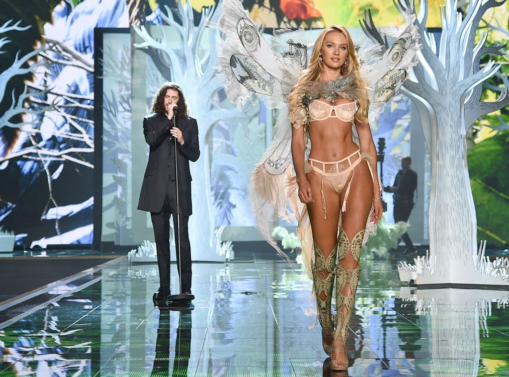 Hozier, Candice Swanepoel , Victoria's Secret Fashion Show 2014