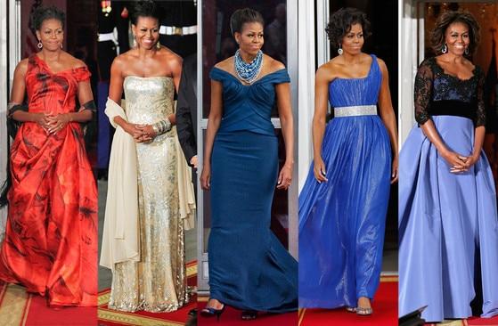 Michelle Obama, State Dinner Dresses