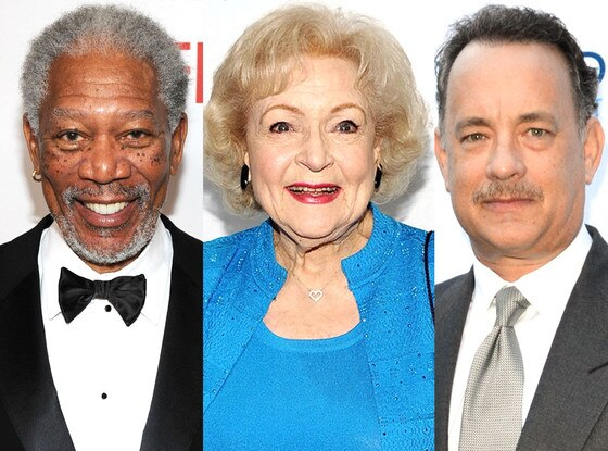 Tom Hanks, Betty White, Morgan Freeman