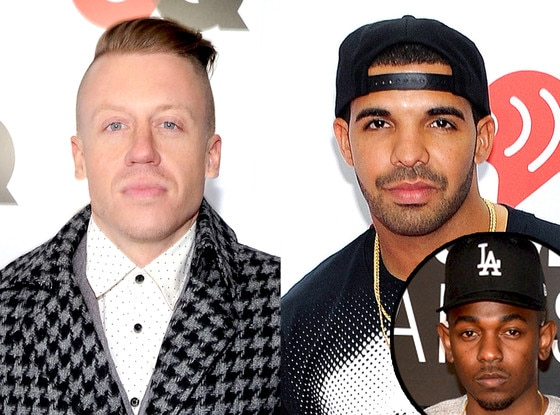 Drake, Macklemore, Kendrick Lamar