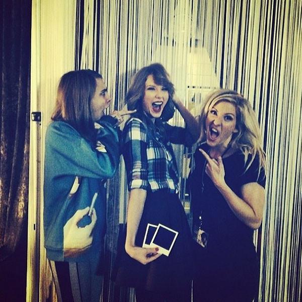 Taylor Swift, Cara Delevingne, Instagram, Ellie Goulding