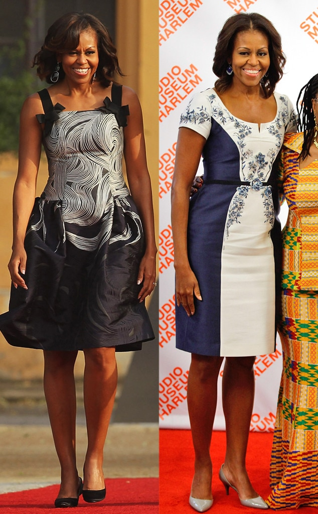 Michelle Obama, Carolina Herrera Dresses
