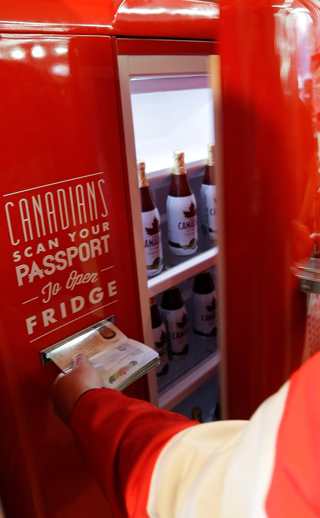If you have a canadian passport you can get free beer in sochi e