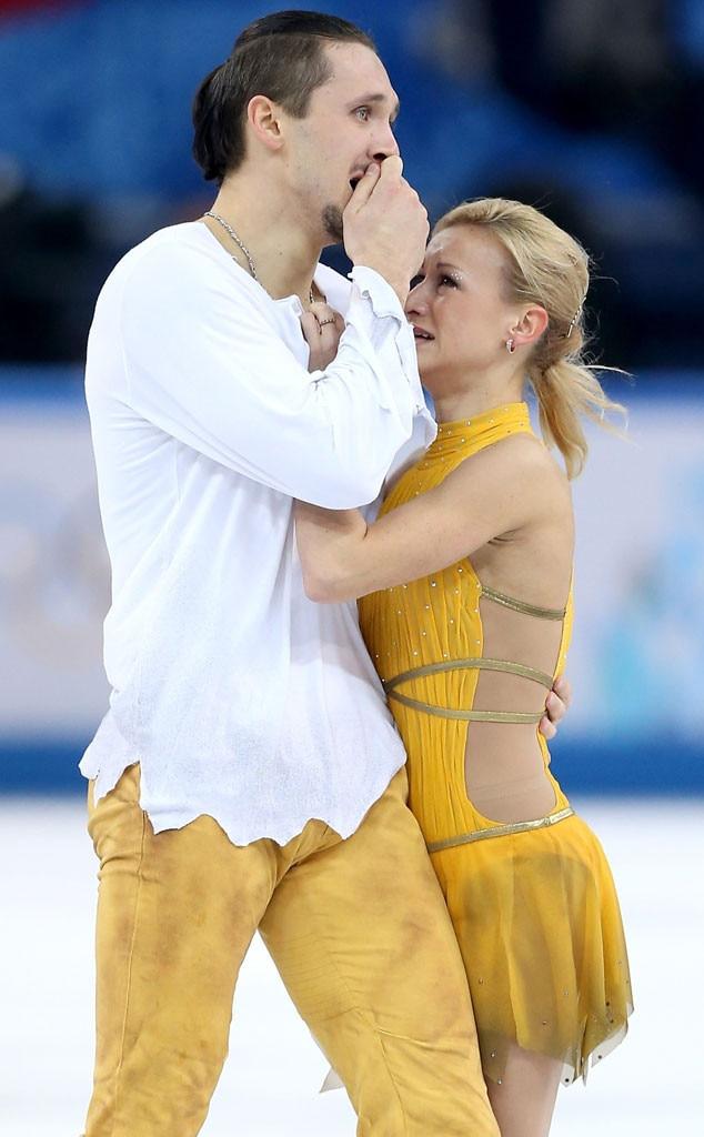 Crying Olympians, Tatiana Volosozhar, Maxim Trankov
