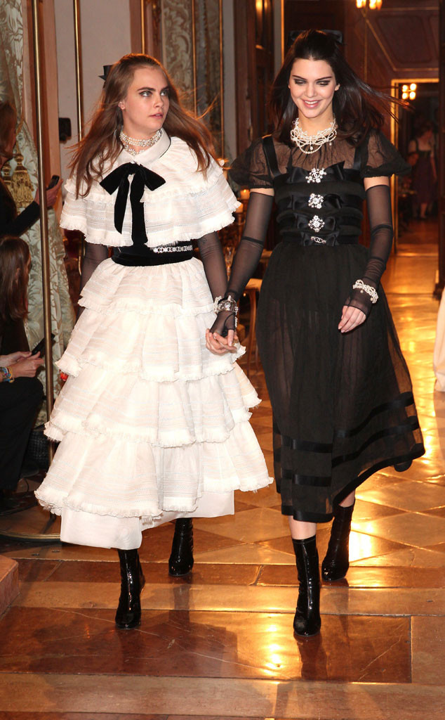 Kendall Jenner, Cara Delevingne, Chanel Collection