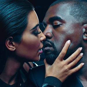 Kim Kardashian, Kanye West, Balmain Menswear