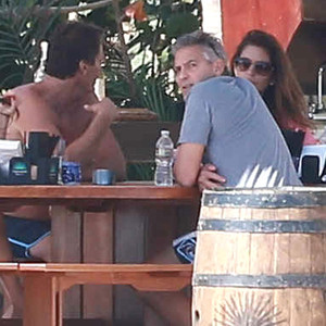 George Clooney, Amal Alamuddin, Cindy Crawford, Rande Gerber