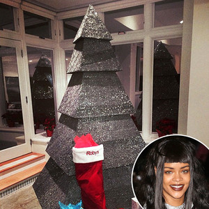Rihanna S Sparkly Christmas Tree Isn T Even A Tree But It
