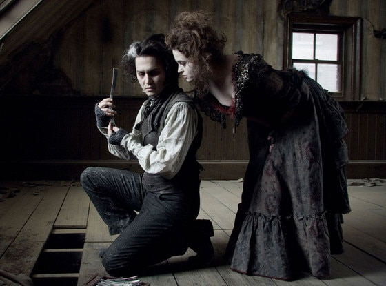 Johnny Depp, Helena Bonham-Carter, Sweeney Todd