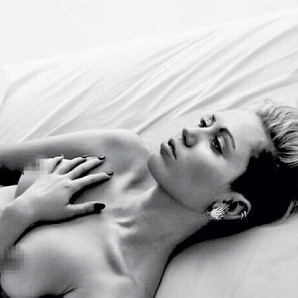 Miley cyrus almost naked pics