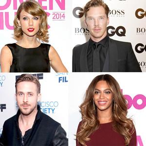 Taylor Swift, Benedict Cumberbatch, Beyonce, Ryan Gosling