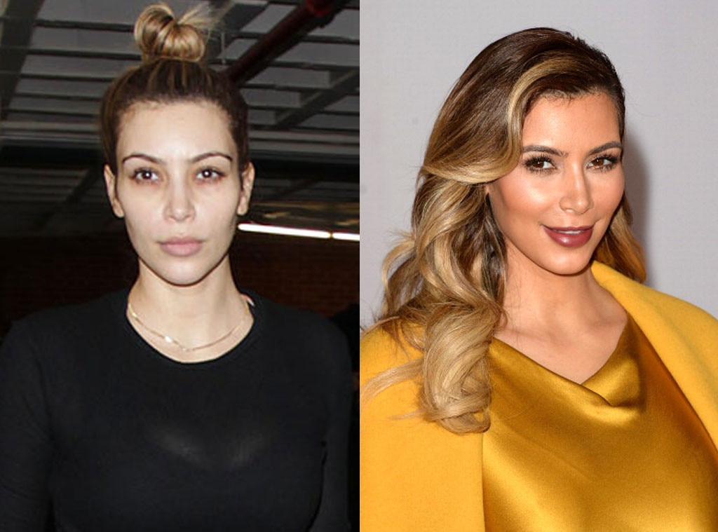 Kim Kardashian, Stars without Makeup