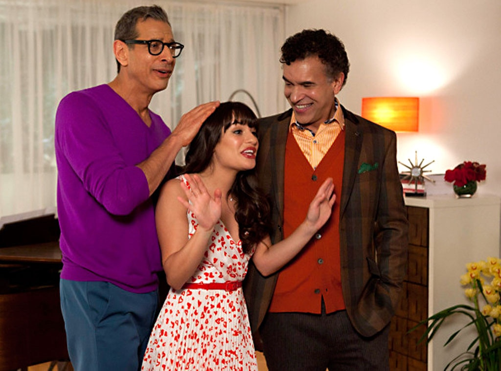 Glee, Lea Michele, Jeff Goldblum, Brian Stokes Mitchel