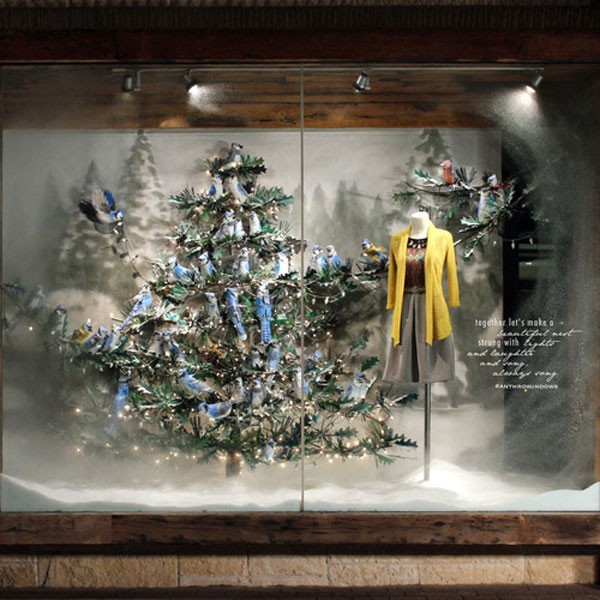 Anthropologie New York From Holiday Window Displays E News