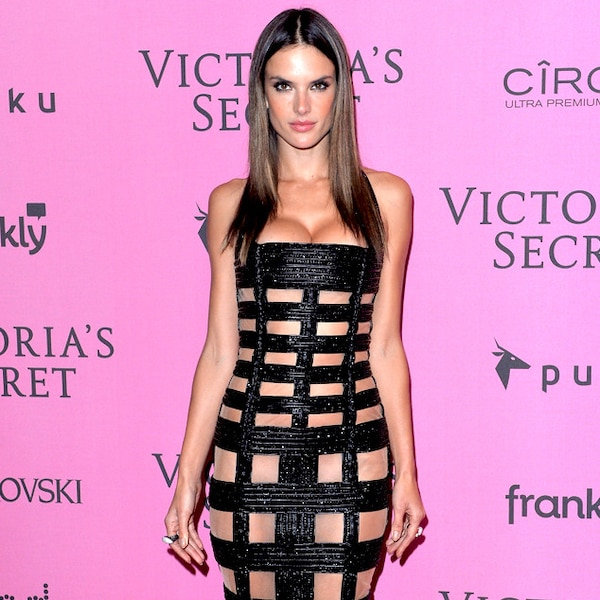 Alessandra Ambrosio from Stars in (Nearly) Naked Dresses