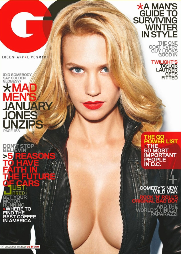 January Jones, GQ, Cover