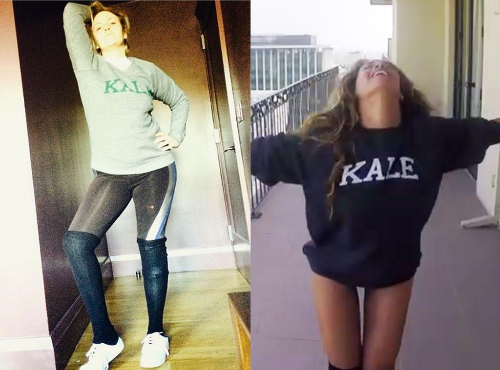 Lena Dunham, Beyonce, Kale Shirt