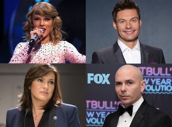 Taylor Swift, Ryan Seacrest, Mariska Hargitay, Pitbull