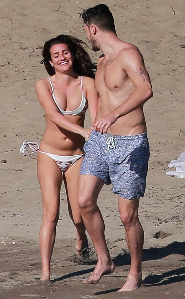 Lea Michele Rings in 2015 Topless in a Thong Bikini (Again